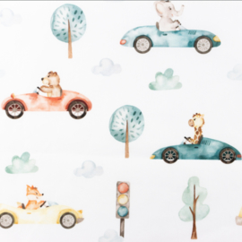 Snoozy fabrics Poplin digital Cars