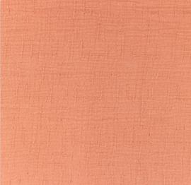 Snoozy fabrics Bamboe Hydrofiel coral