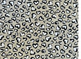 Hydrofiel Hartjes sand/offwhite