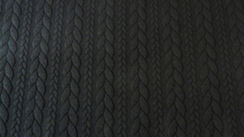 Kabelstof grof  Zwart