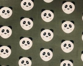 Tricot panda's khaki