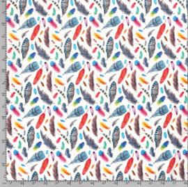 Tricot Digitaal Kleurrijke veren