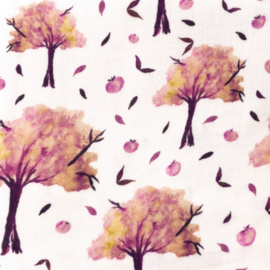 Snoozy fabrics Hydrofiel Appeltjesboompjes