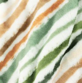 Snoozy fabrics wellness fleece gekleurde streep