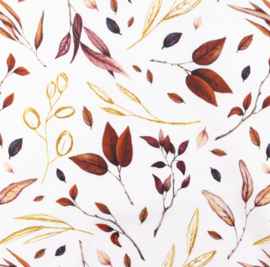 Snoozy fabrics Poplin Herfst blad