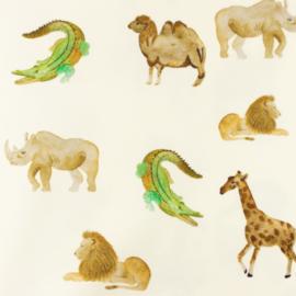 Snoozy fabrics Tricot Krokodil & neushoorn