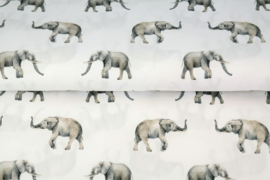 Stenzo poplin Olifant print