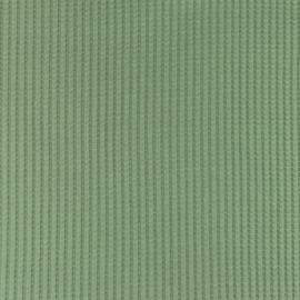 Snoozy fabrics Wafel jersey Oudgroen