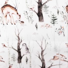 Snoozy fabrics Poplin Ree & egel
