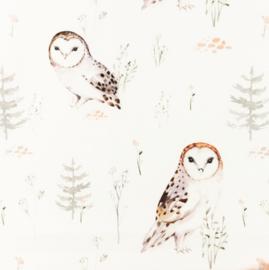Snoozy fabrics Poplin Owl grof