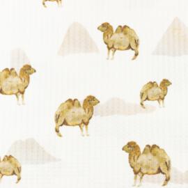 Snoozy fabrics Baby waffle Kameel