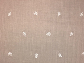 Aruba embroidery Leaves beige