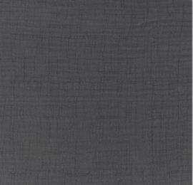 Snoozy fabrics Bamboe Hydrofiel antraciet