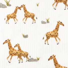Snoozy fabrics Baby waffle Giraf