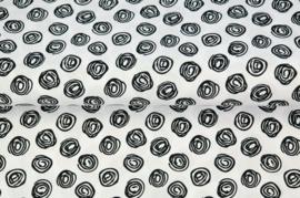 Stenzo poplin dots in cirkels