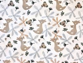 GOTS poplin kangoeroe & koala