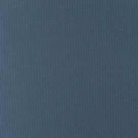 Snoozy fabrics Rib jersey Jeansblauw