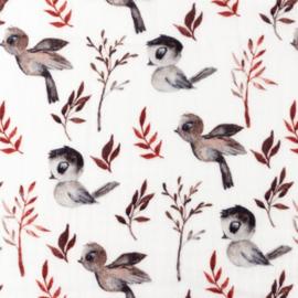 Snoozy fabrics Hydrofiel Birdy