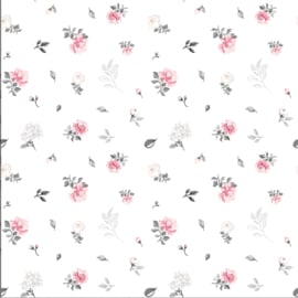 Tricot Smal pink flowers