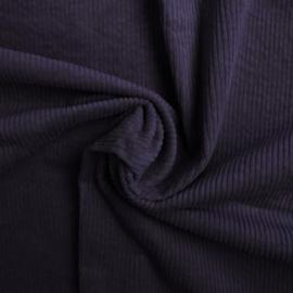 Gewassen ribcord Donker paars