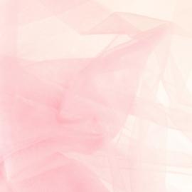 Soepele tule/ mesh Zacht roze