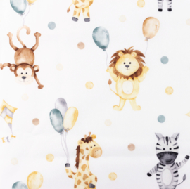 Snoozy fabrics Poplin digital Party animals