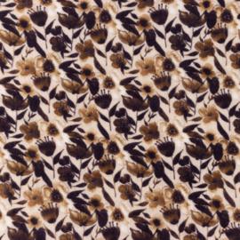 Snoozy fabrics Hydrofiel Zeebloem bruin