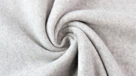 Katoenen Fleece Licht grijs