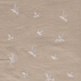 Semi Linnen embroidery Birds