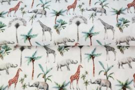 Stenzo poplin Olifant & giraf