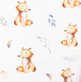 Snoozy fabrics Poplin digital Vosje & takje