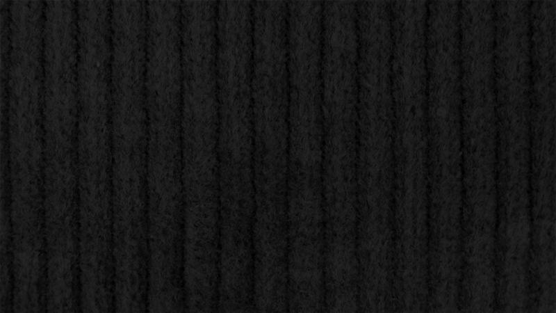 Gewassen ribcord Zwart
