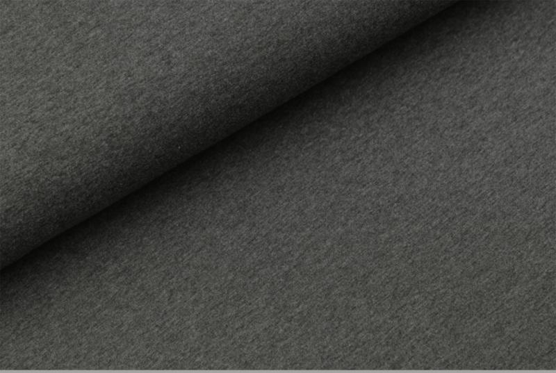 Katoen tricot Donker antraciet melange