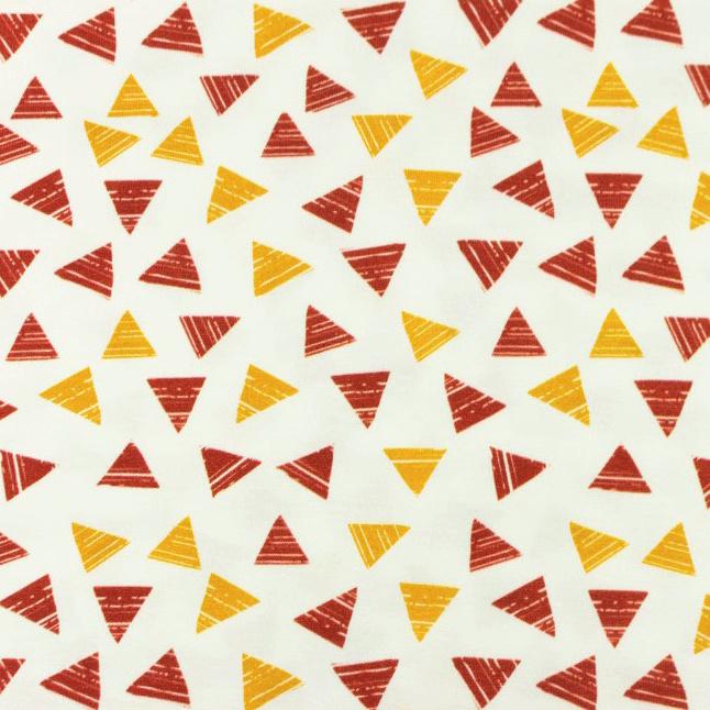 Hydrofiel Printed Triangle 2 color oker