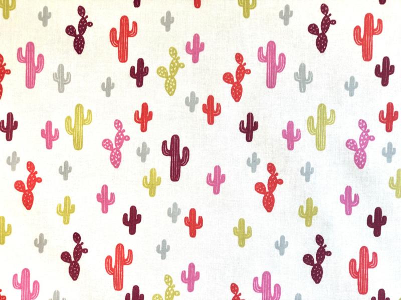 Katoen Cactus rood