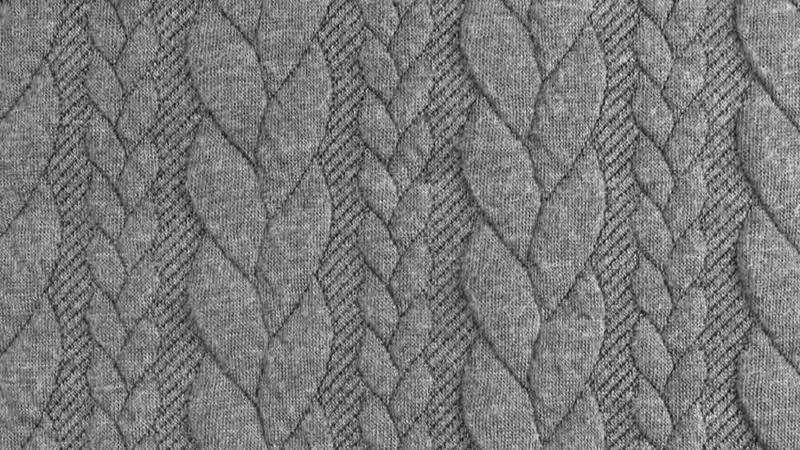 Kabelstof grof Midden grijs