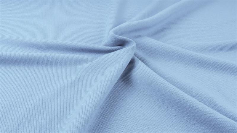Gebreide katoen FIJN Jeans blauw