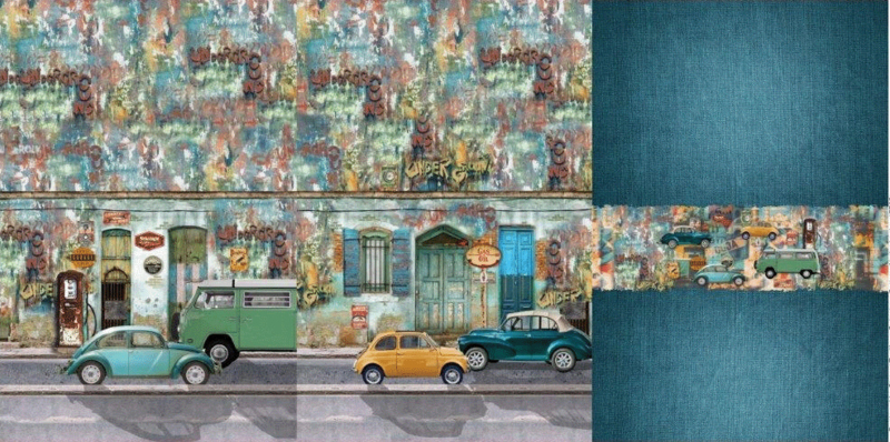 Stenzo tricot Panel Vintage cars
