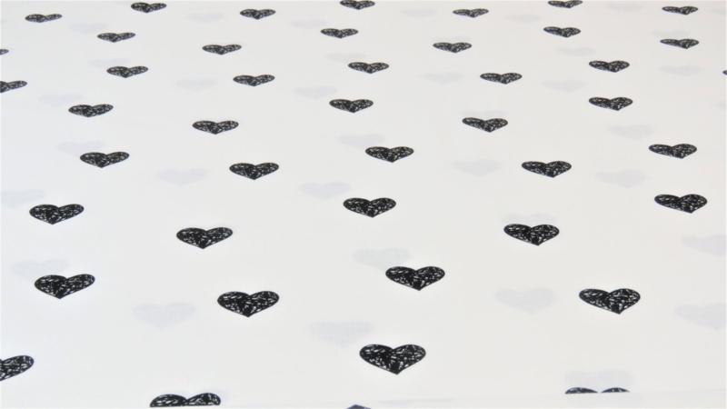 Katoen met hartjes