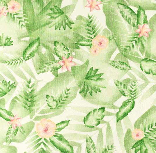 Hydrofiel Tropische bloem & bladeren