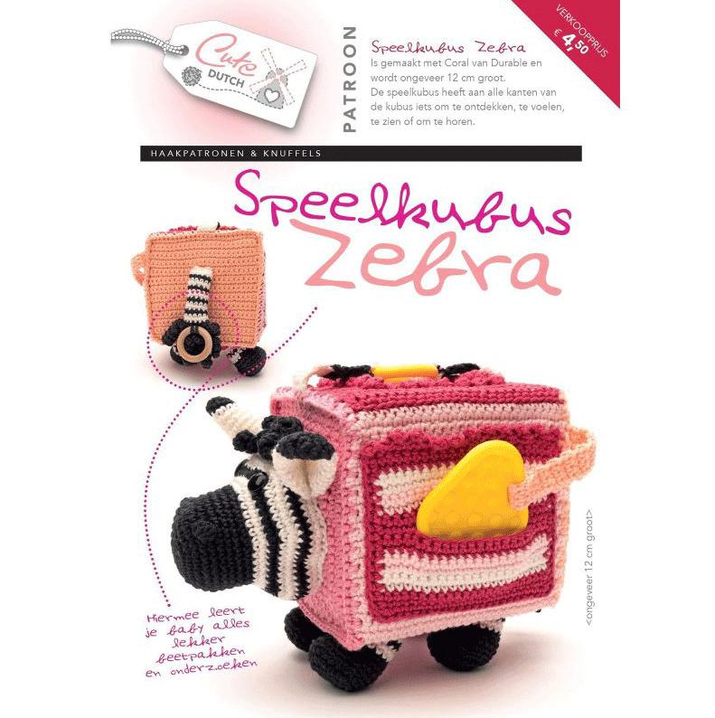 Baby haakpatronen boekje Speelkubus zebra