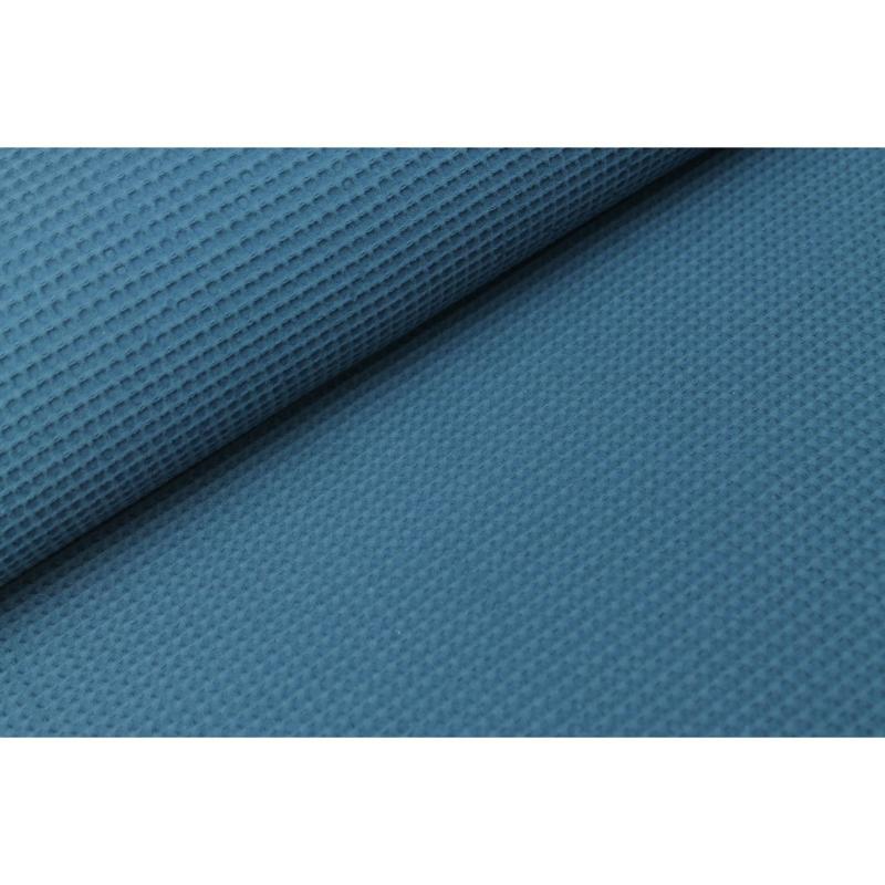 Wafelstof FIJN Donker Jeansblauw
