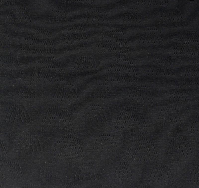 Katoen Fijn gebreid Ajour  Regenboogjes zwart