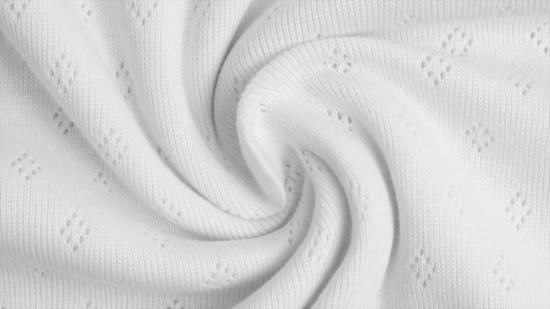 Katoen Fijn gebreid Ajour  Wit