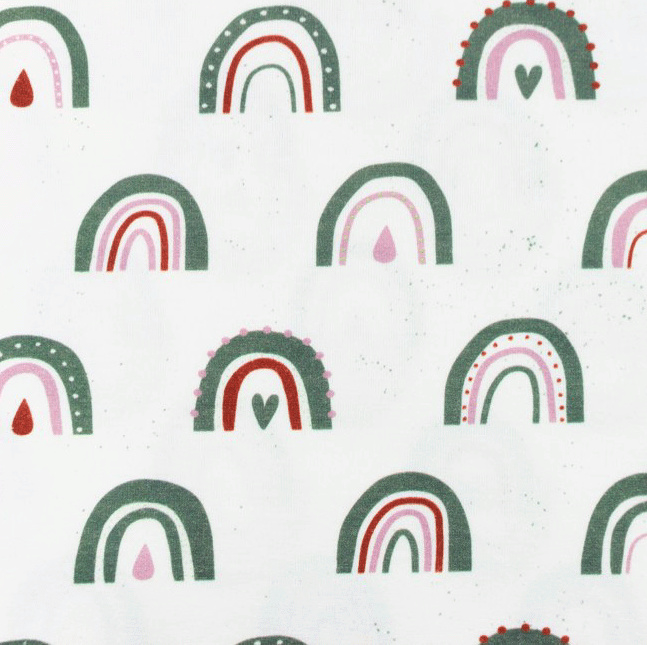 Tricot Printed Arch with drops