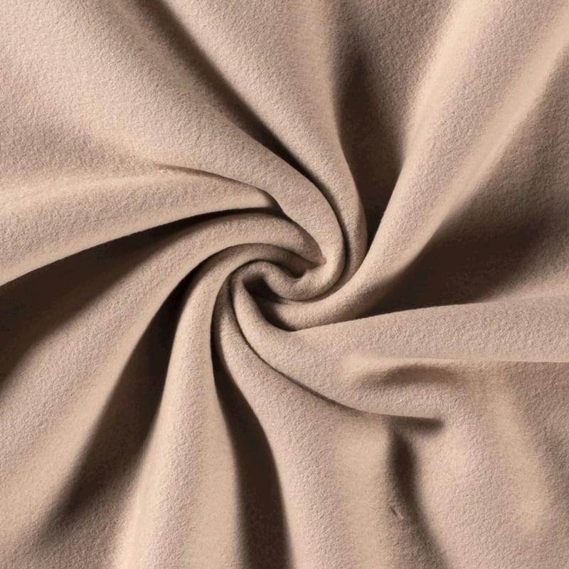 Katoenen Fleece Sand