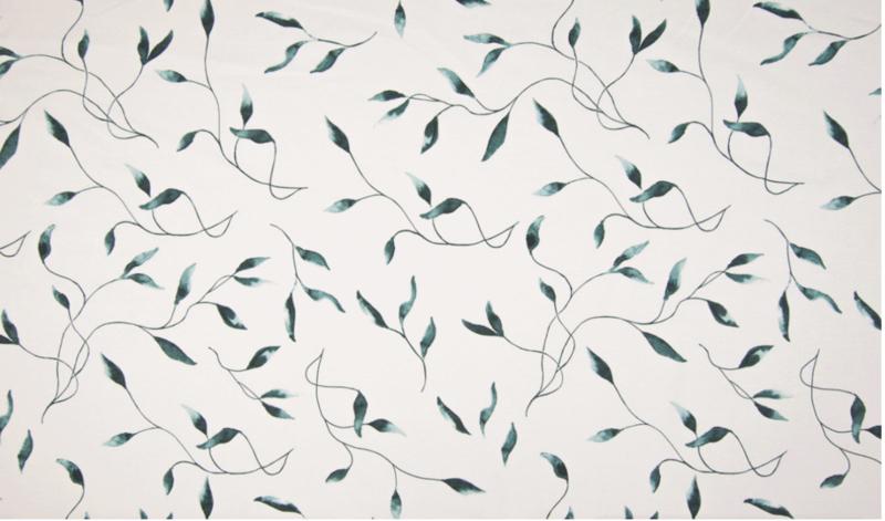 Qjutie tricot Leaves dusty green