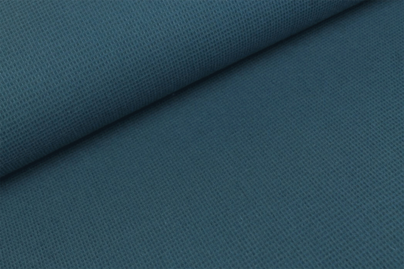 Wafelkatoen MINI Jeansblauw