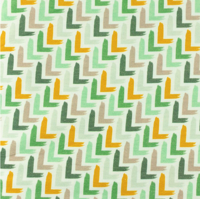 COUPON Tricot Printed corner oudgroen