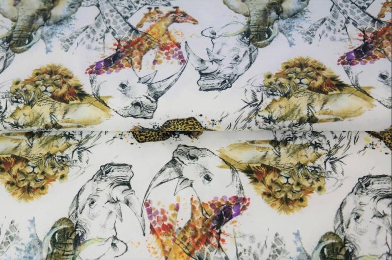Stenzo digital tricot sketch jungle animals